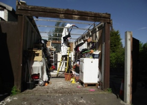 Asbestos removal site preparation